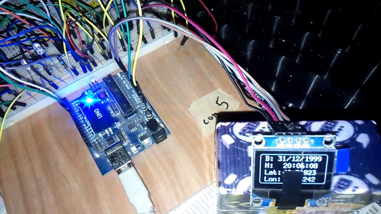 NEO6MV2 mini sync (5s time update) gps arduino clock