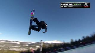 Arielle Gold's Third Place Run - Women's Superpipe 2017 Dew Tour