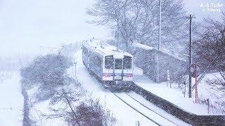 鉄道のある風景 JR三江線 立春舞雪 午後の章 (4-Feb-2018)