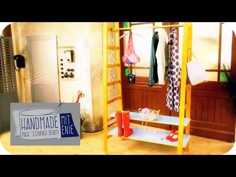Garderobe aus holzb geln selber bauen funnycat tv for Stoffhimmel kinderzimmer