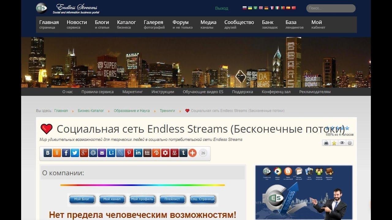 КАТАЛОГ. Создание страниц в рекламной сети Endless Streams.