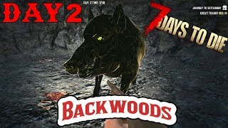 7 Days To Die - Random Horde Nights - Backwoods (Day 2)