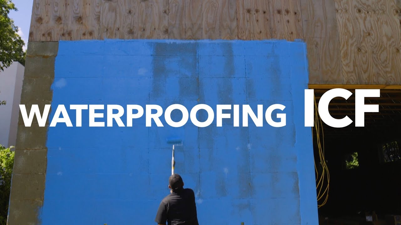 Waterproofing bautex insulated concrete forms youtube
