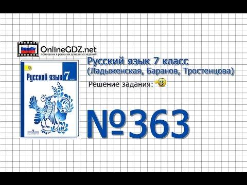 Русский язык 7 класс (Ладыженская, Баранов, Тростенцова)