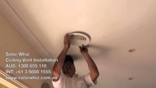 Ceiling Vent Installation