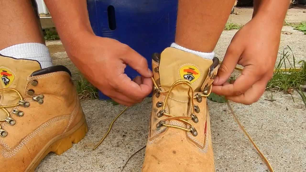 How To Tie Work Boots