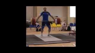 Тяжёлая атлетика.  Дмитрий Лапиков . Рывок 215 кг.  Тренировка