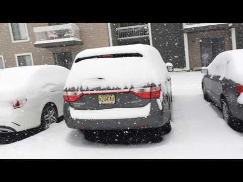 Ini Thomas Kids First Snowfall Jan2017 in Plainsboro NJ North America