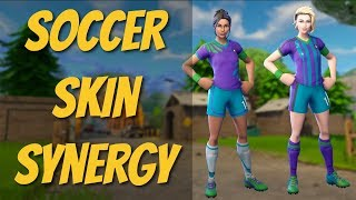 Fortnite | Soccer Skin Synergy (Poised Playmaker | Finesse Finisher Duo Gameplay)