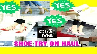 HEELS TRY- ON SHOE HAUL FROM / CHIC ME  ,DHGATE AND MORE..........