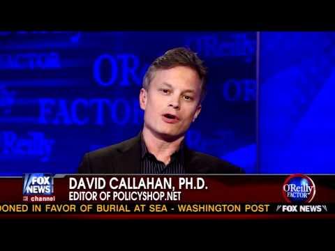 Demos' David Callahan on O'Reilly Factor: Public Support for O.W.S