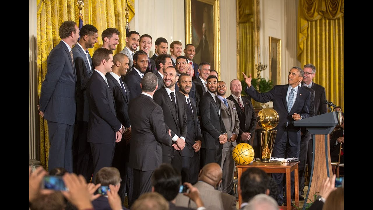 the 2014 nba champion san antonio spurs visit the white house youtube rh youtube com