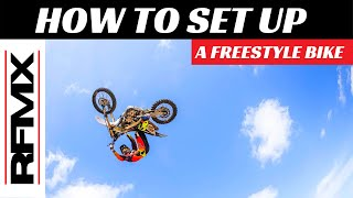 Freestyle Motocross Bike Setup || FMX Tips with Ronnie Faisst