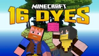 16 DYES SKY ISLAND MAP (Minecraft: Dumb and Dumber)