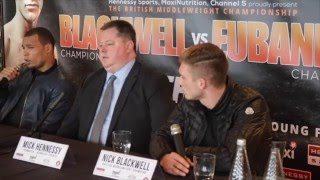 SLIGHTLY INTENSE -NICK BLACKWELL v CHRIS EUBANK JR PRESS CONFERENCE W/ MICK HENNESSY & EUBANK SNR