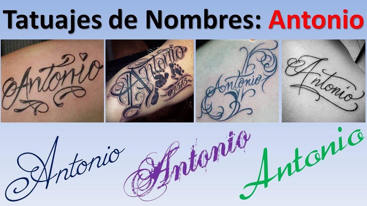 Diseños Y Tatuajes De Nombres Antonio Youtube