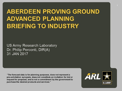 Advanced Planning Briefing to Industry