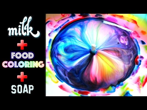 World's Biggest Milk Food Coloring And Dish Soap Experiment!!