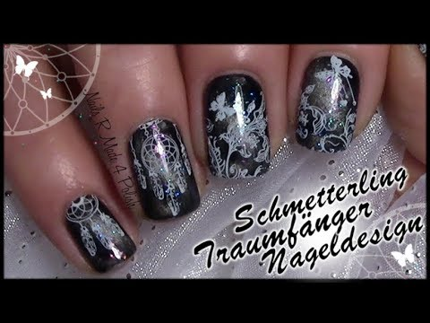 schmetterling-traumfänger-nageldesign-/-magnet-polish-nail-art-/-stamping-nails