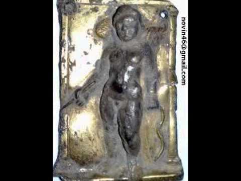 Ancient Plaque Greek Art Eyes Enamel material Net Silver Gold alloy The gilded Love Goddess novin46@gmail com