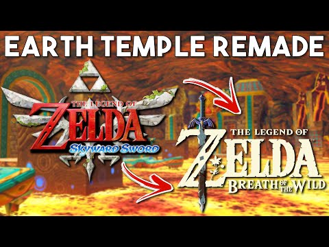 Skyward Sword Earth Temple Remade in Zelda Breath of the