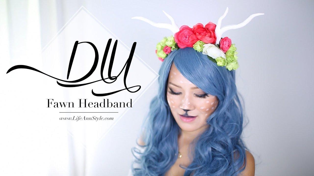 diy antler headpiece | fawn costume | ann le - youtube