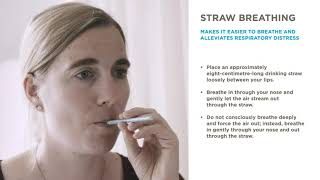 Straw breathing can be helpful if you are in respiratory distress. different variations of the exercise possible. find out more about how increas...