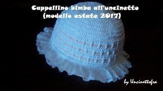 Cappellino Neonata Jasmine A Uncinetto 0 3 Mesi