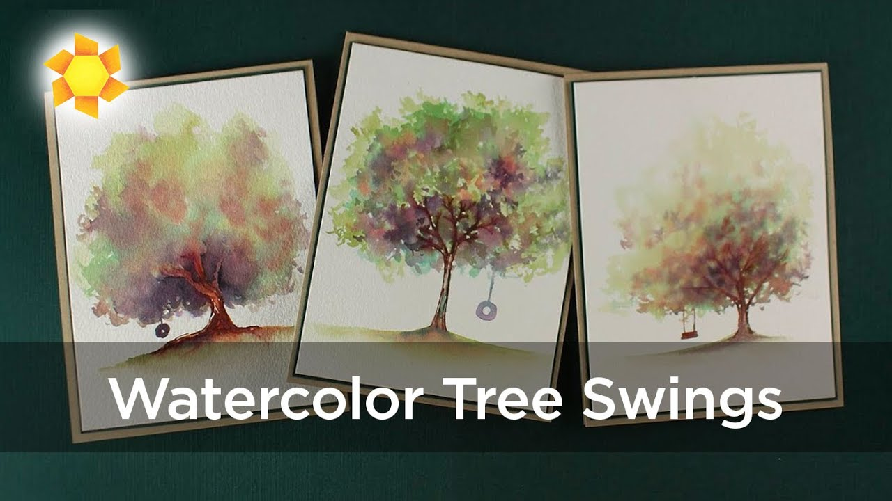 Art Impressions Watercolor Tree Swings  (Video Hop!)