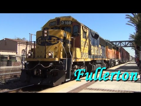 Trains in Fullerton, California - October 2014