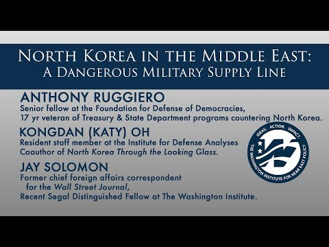 North Korea in the Middle East: A Dangerous Military Supply Line