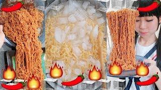 Making Ice Fire Ramen Challenge!!! Husband Doesn't Like It!!