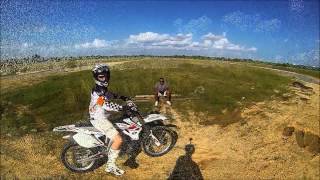 My Bro first time jumping with dirtbike