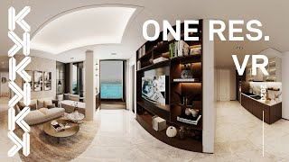 360 Virtual Reality / Panotour of One Residence Apartment