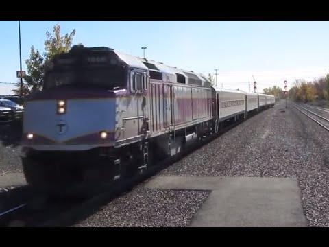 Railfanning the MBTA Commuter Rail - Fall 2015