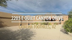 Home For Sale in Catalina Foothills, AZ 2203 E Quiet Canyon Drive