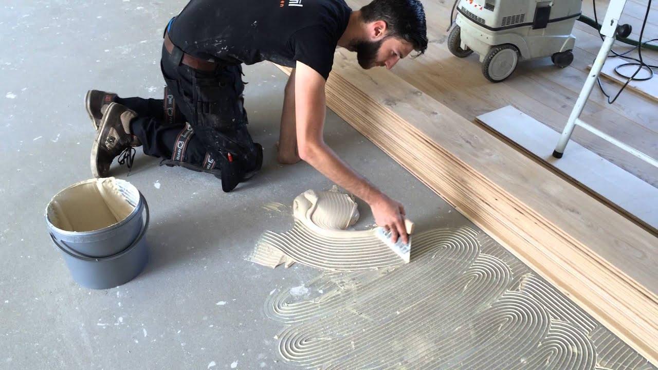 Houtenvloer verlijmen multiplank plusvloeren plusvloeren eiken
