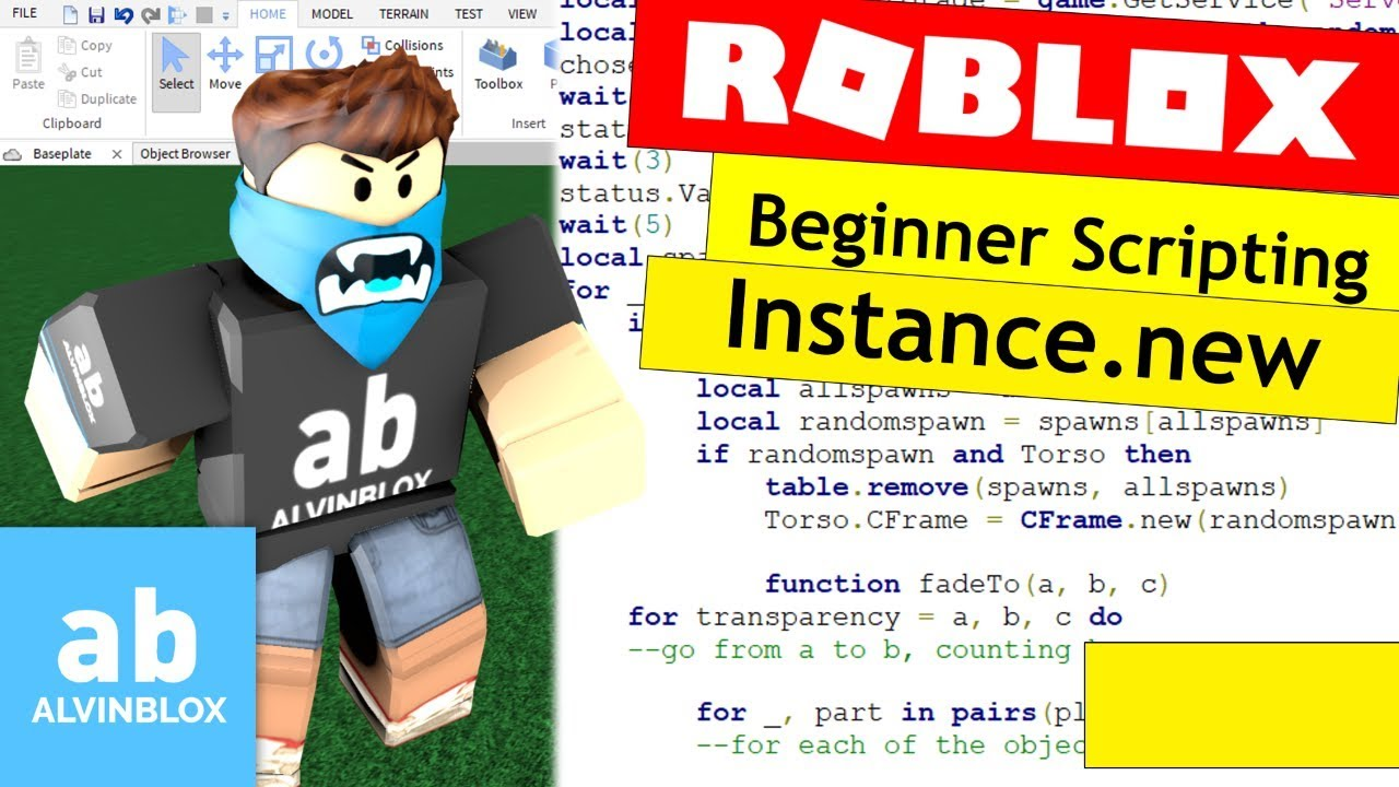 How To Script On Roblox For Beginners Using Instance New
