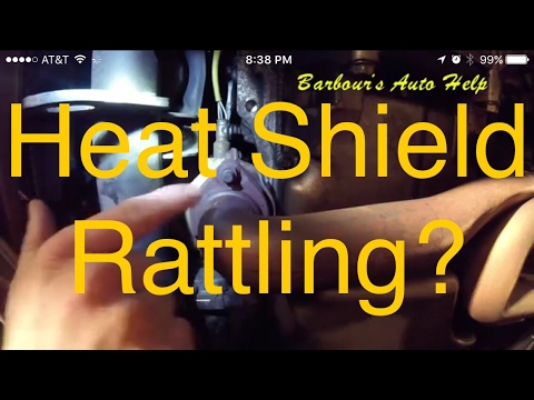 How to fix (temporarily) a rattling heat shield on a catalytic converter