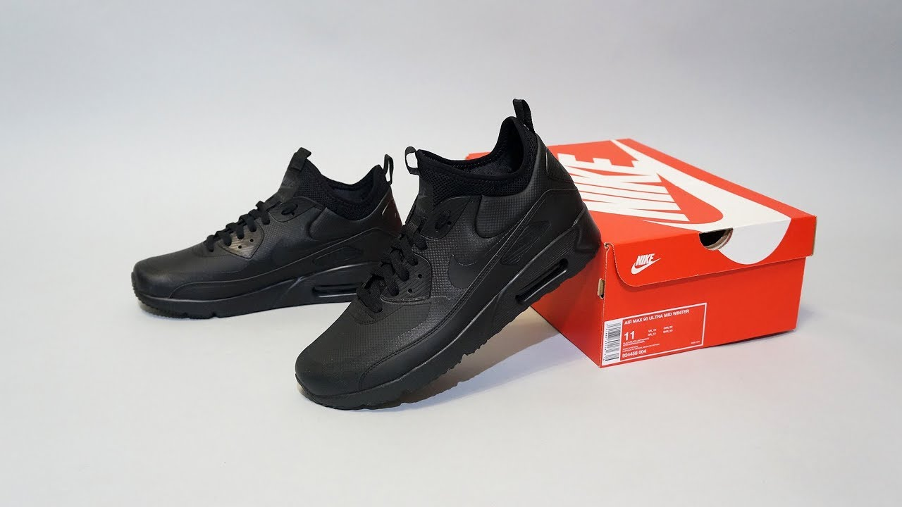 sale retailer 6432e 8d9e0 Nike Air Max 90 Ultra Mid Winter Black 924458-004