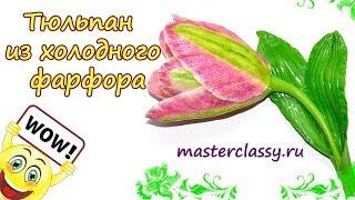 Cold porcelain flowers tutorial. Тюльпан из холодного фарфора. Цветок своими руками: видео урок