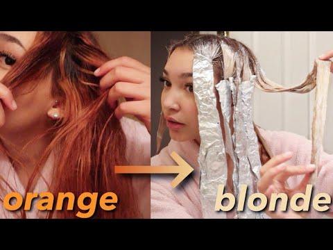 bleaching my hair | BLACK to BLONDE | Part 2