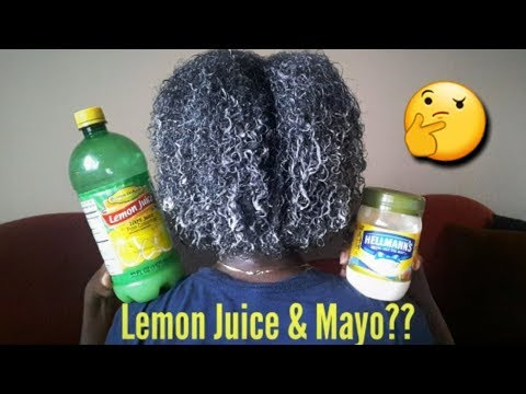 Mayo Hair Mask w/Lemon || Updated 2017