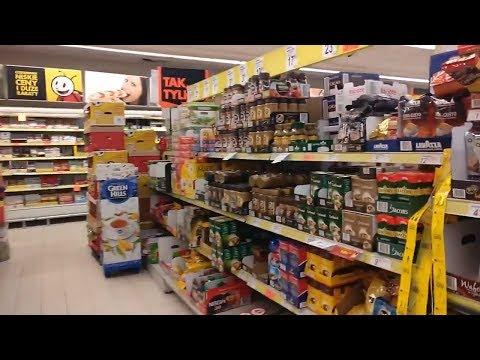 Цены на продукты в Польше (июнь 2018). Супермаркеты: Mila, Lidl, Biedronka. Скидки на товары