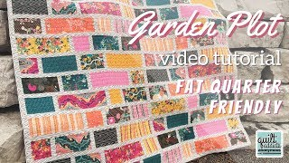 Super Fast Fat Quarter Friendly Quilt Pattern & Tutorial - Garden Plot
