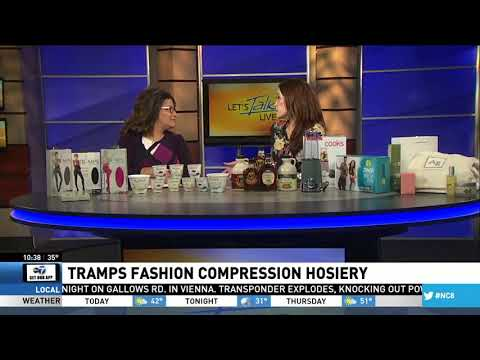 Tramps Fashion Compression Hosiery featured on News 8 DC Wellness Wednesdays