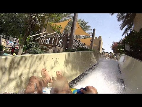 Never Ending Water Slide at Wild Wadi Waterpark