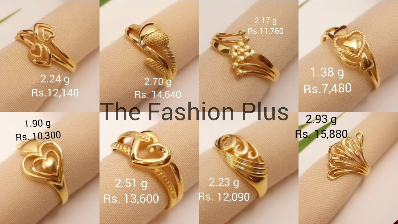 Latest Light 22k Gold Ring Designs With