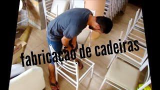 como fazer cadeiras de ferro! - how to make chairs -comment faire des chaises - diy