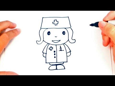 How to draw a Nurse | Nurse Easy Draw Tutorial